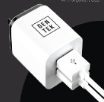 GT-21072 GenTek Wall Charger 2-Port 2.1 AMP White