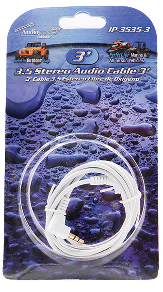 IP3535-3 Audiopipe 3.5mm to 3.5mm 3ft Cable
