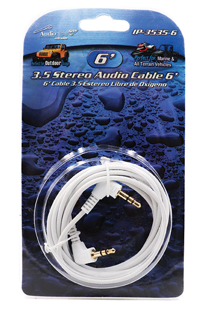IP3535-6 Audiopipe 3.5mm to 3.5mm 6ft Cable