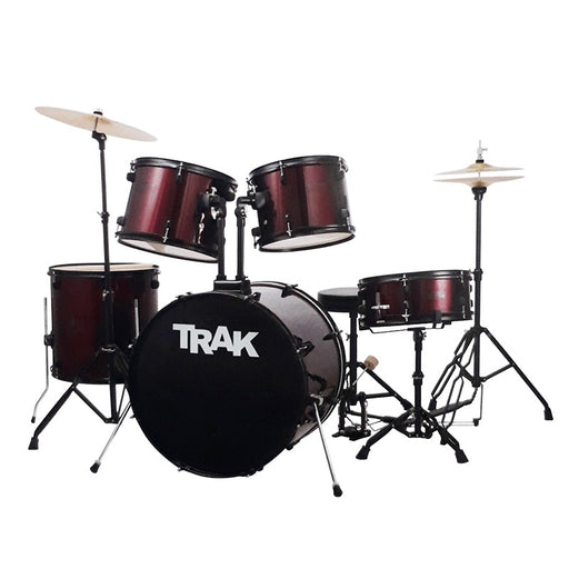 JBP1601A- WR TRAK 5 Pc Drum Set WINE RED