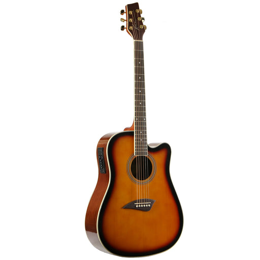 K1ETSB Kona K1 Series Dreadnought Cutaway Acoustic/Electric (Sunburst)