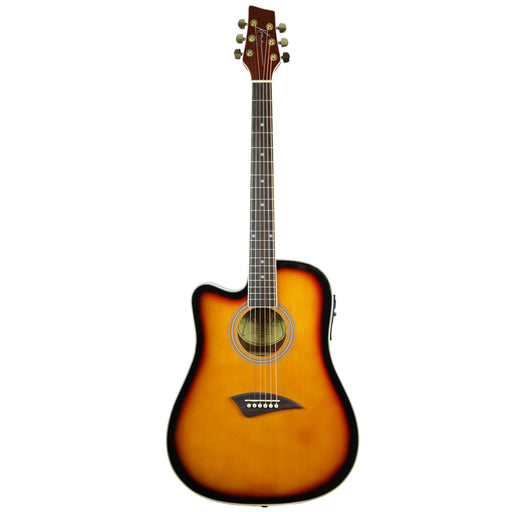 K2LTSB Kona K2 Series Left-Handed Thin Body Acoustic/Electric Guitar (Sunburst)