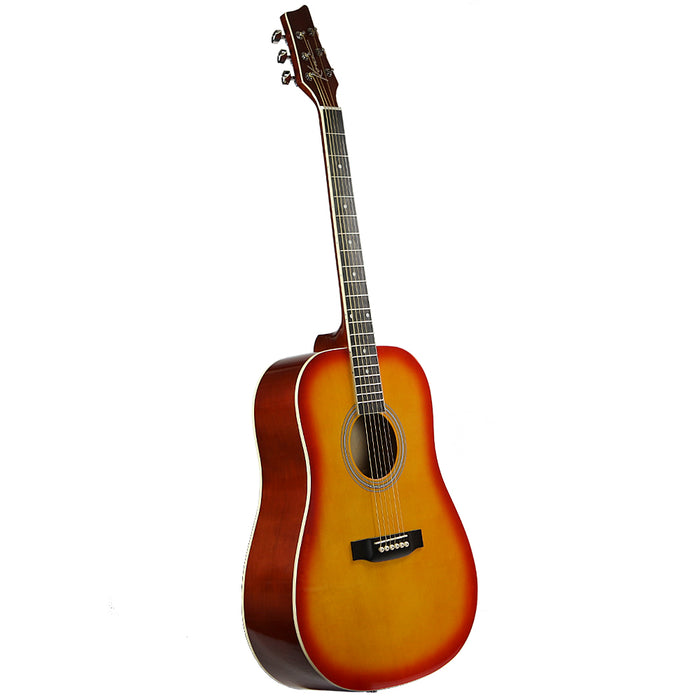 K41CSB Kona Dreadnought Acoustic Guitar (Cherry Sunburst)