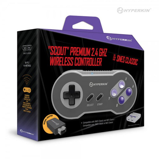 "M07305 - ""Scout"" Premium 2.4 GHz Wireless Controller for SNES Classic Edition/ NES Classic"