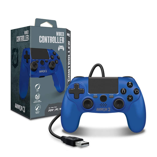 M07341-BU Wired Game Controller PS4/PC/Mac Blue