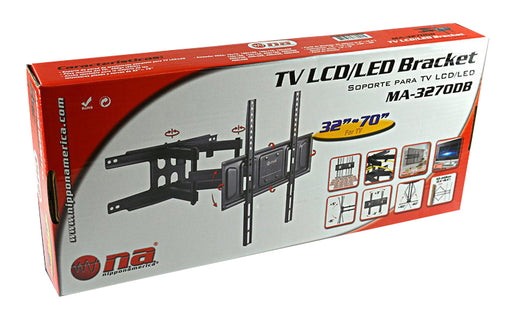 "Full Motion Tilt Swivel Articulating Dual Arm TV Mount 32"" - 70"""