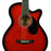 "MAS38TR Main Street 38"" Acoustic Cutaway Guitar (Transparent Red)"
