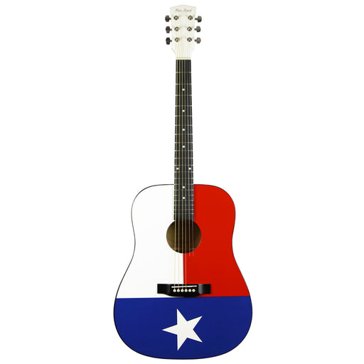 MATXF Main Street Dreadnought Acoustic Spruce Top Guitar - Texas Flag