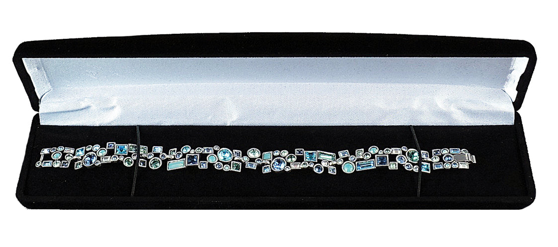 M&M MFB01B Velour Bracelet Box - Black