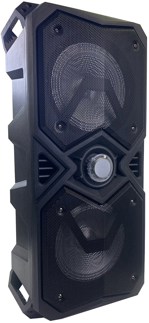 "MPD828M-BK Max Power Dual  8"" Woofer Bluetooth Stow & Go Jam Pack"