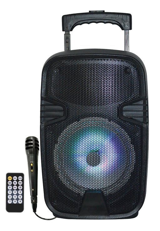 MPD844L Max Power 8in LED PA Speaker With Built-In Rechargeable Battery