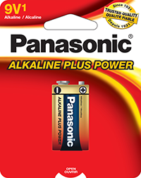 6AM6PA1B Panasonic Alkaline 9volt Battery