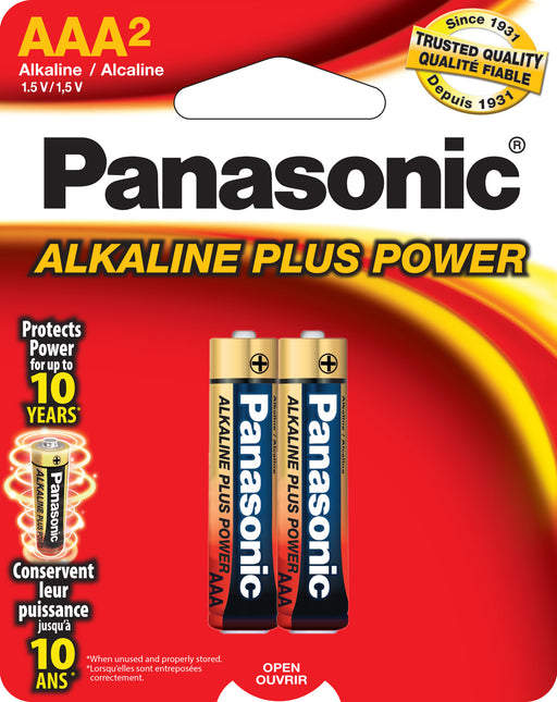 AM4BP2 Panasonic Alkaline 2 Pack AAA  Batteries