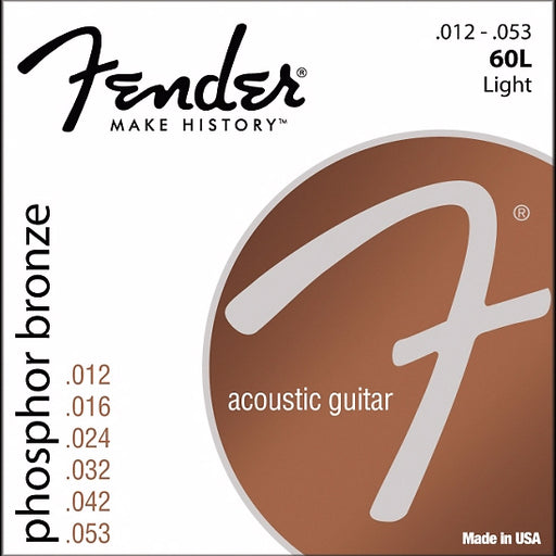 0730060403 Fender Phosphor Bronze Acoustic Guitar Strings .012-.052 C12