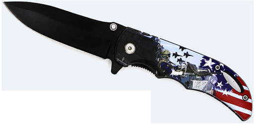 SG-KS8096NV Navy 3D ABS Handle Assisted Knife
