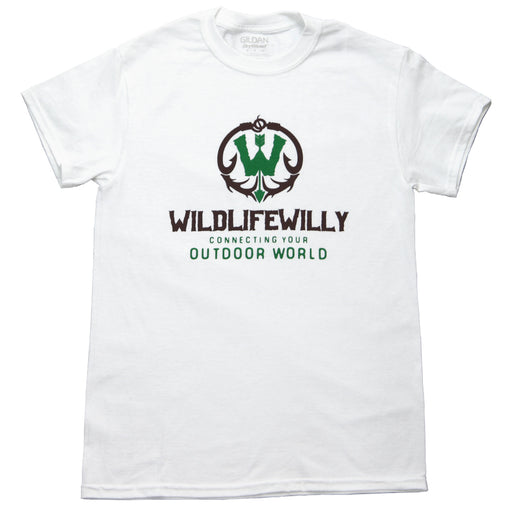 WWWBRN-M WW T-Shirt White Brown Logo-MED
