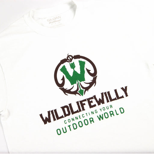 WWWBRN-L WW T-Shirt White Brown Logo-LG