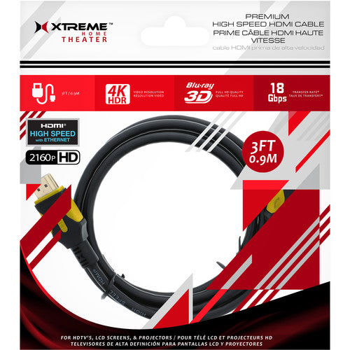 XT-XHV11023 Xtreme 3ft Premium High Speed HDMI Cable