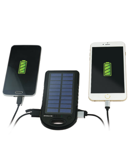 XT-XBB81012BLK 5000mAh Solar Powered Battery Bank Black