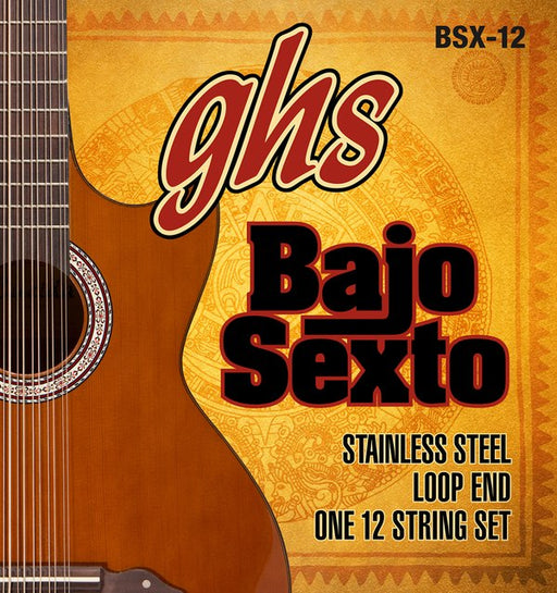 BSX12 GHS Stainless Steel Bajo Sexto 12-String Set