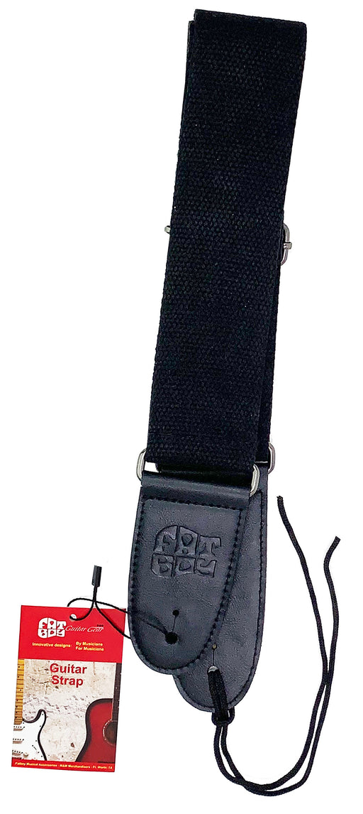 FBS-S1 Fatboy Black Soft & Cool Cotton Guitar-Bass Strap