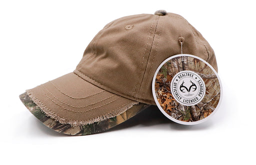6 Panel Outdoor Cap Bronze with Realtree Xtra Camo Trim