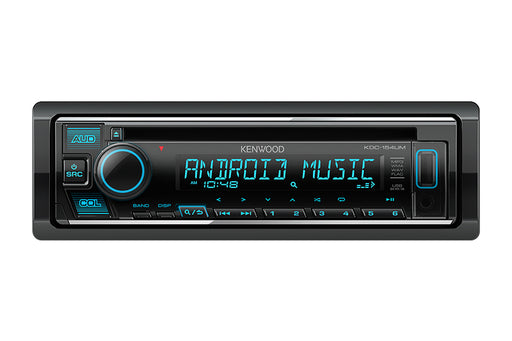 KDC-154UM Kenwood DIN CD Receiver with Front USB Input and Aux input