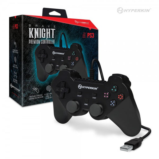 M07304BK Brave Knight Premium Controller For PS3/ PC/ Mac Black