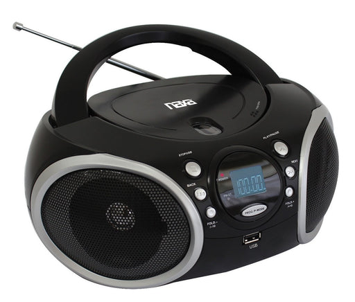 NPB-276 NAXA Portable MP3 / CD Player with AM/FM Analog Radio & USB Input