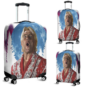WOOOOO At The Moon Luggage Cover