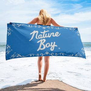 Nature Boy Beach Towel (Blue)