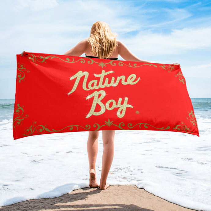 Nature Boy Beach Towel (Red)