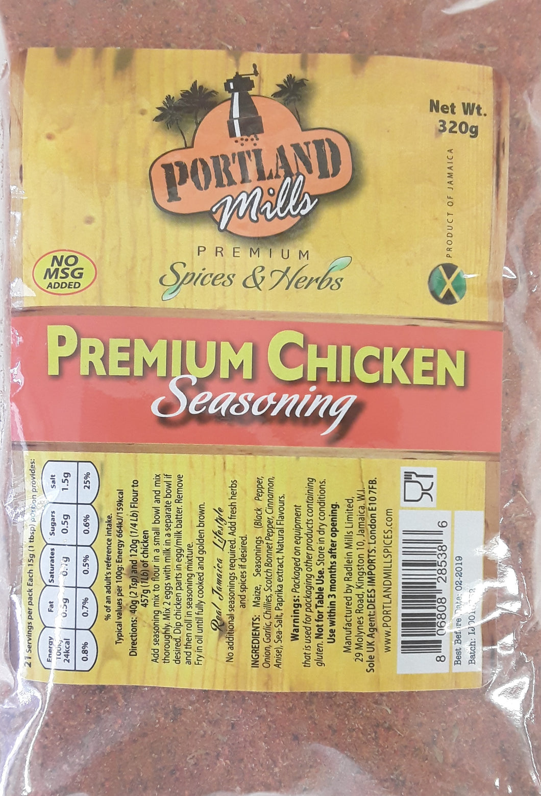 Portland Jamaican Chicken Seasoning - Evansfoods