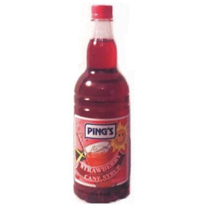 Pings Strawberry Syrup - Evansfoods