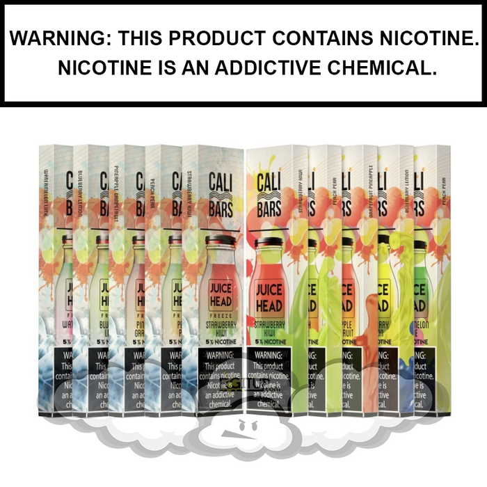 Juice Head Cali Bars Disposable E-Cigs (10-Pack)