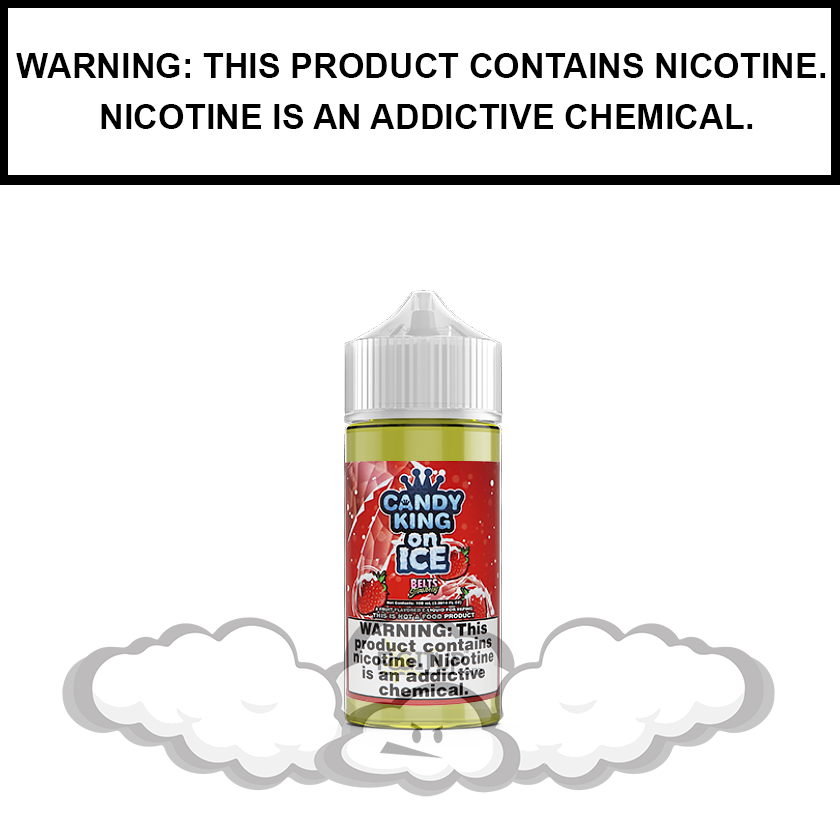 Candy King | Strawberry Belts on ICE - eJuice (100ml)