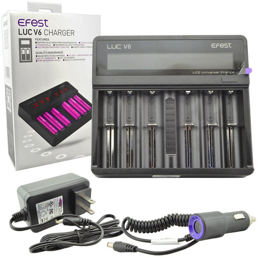 Efest - LUC V6 LCD Six Bay Charger vape shop pros wholesale