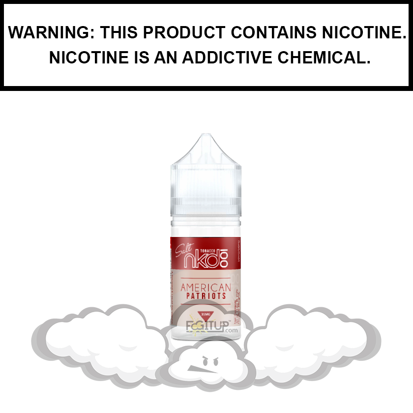 NKD 100 Tobacco | American Patriots - Salt Nic eJuice (30ml)