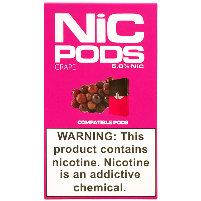 Nic Pods 50 mg Juul Compatible grape
