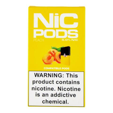 Nic Pods 50 mg Juul Compatible peach