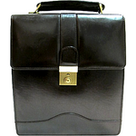 Leather North South Unisex Bag 36461