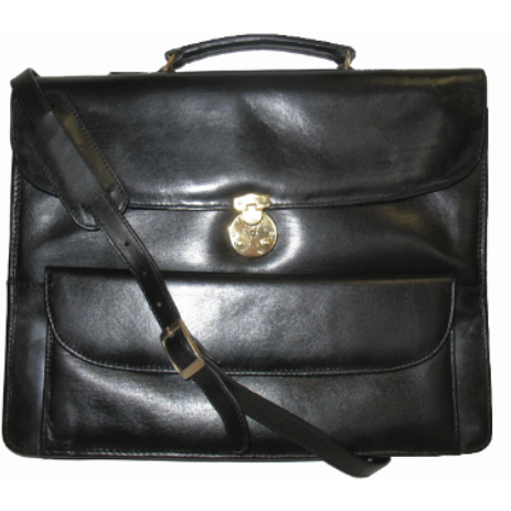 Leather Briefcase Triple Compartment Messenger 49984
