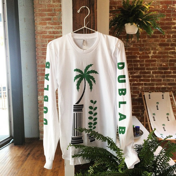 dublab palm tree long sleeve tee