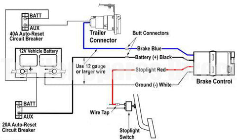 Brake Controller Wiring >> Wiring Diagram For Brake Controllers Trailer Spares Direct