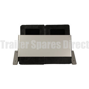 wheel chock holder - stainless steel