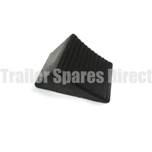 wheel chock rubber black