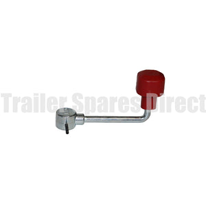 Jockey wheel handle dowel pin