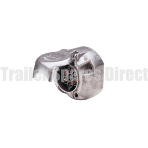 narva 7 pin large round metal car socket