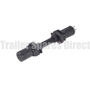 adapter 7 pin round socket - 6 pin small round plug