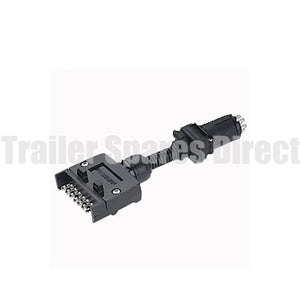 adapter 7 pin flat socket - 6 pin small round plug
